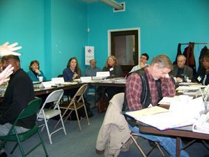 Preservation Trades High School Curriculum Summit participants.