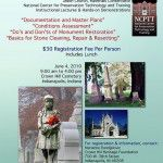 Cemetery Monument Restoration Workshop at Crown Hill Cemetery: