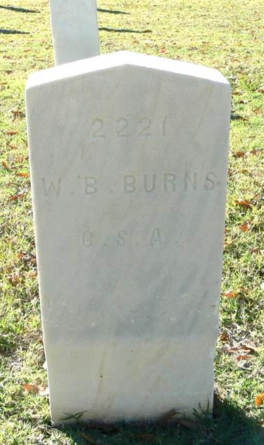National Cemetery Confederate headstones: Corinth, MS.