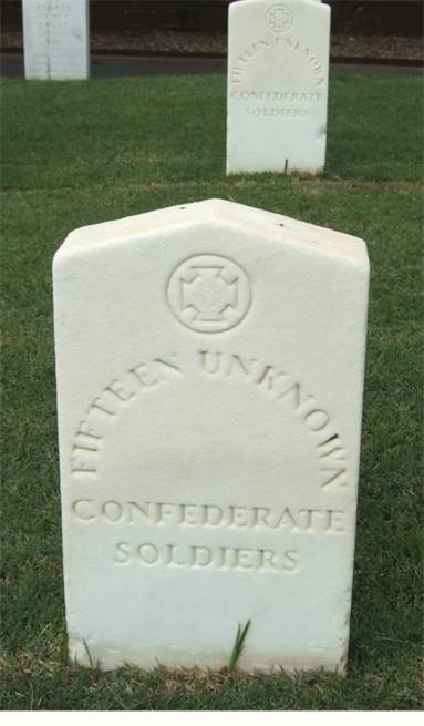 National Cemetery Confederate headstone:   Fort Smith, AR