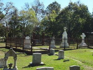 Hands-on portion held at the Rapides Cemetery.