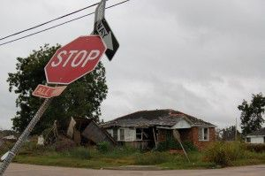 Residential neighborhood in New Orleans one year after Hurricane Katrina made landfall. (photo NCPTT)
