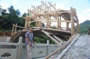 The unique woven timber arch covered bridges of China will be featured at the conference. Photo courtesy Zhong Xiaobo.
