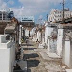 St. Louis Cemetery is composed of above ground tombs and is located in a harsh urban environment.
