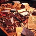 Raw materials form the residence of Henry Darger.
