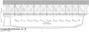 Eldean Bridge (Long Truss, 1860)<br /> HAER drawing by Kimberly Clauer.