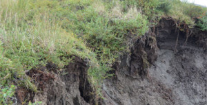 Erosion from thawing permafrost