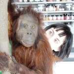 Fran Ritchie and her Orangutan