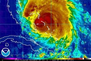 Hurricane Irene thermal image. Photo: NOAA.