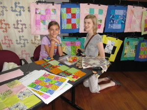 Campers discussed their creations during a public reception on the final day.