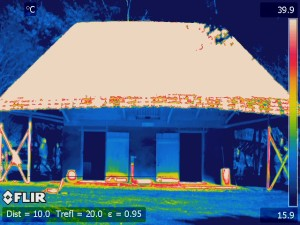 infrared image taken from south of African House facing north.