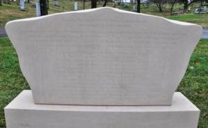 Rear view of successor monument.