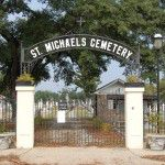 Main entry gates of historic St. Michael's Cemetery in Pensacola, Florida. Photo: Jason Church.