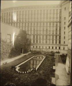 Northwest courtyard pool ca. 1927.