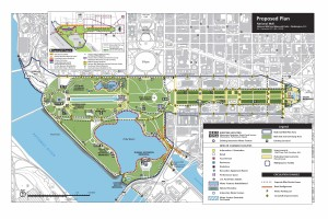 Proposed plan for the National Mall, from the National Mall Plan: Summary, Fall 2010.