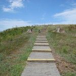 Ascent up Mound A, Poverty Point State Historic Site (August 2011).