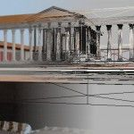 Reconstructing the Temple, Temenos and Statue of Trajan. Photo courtesy of The Portus Project.