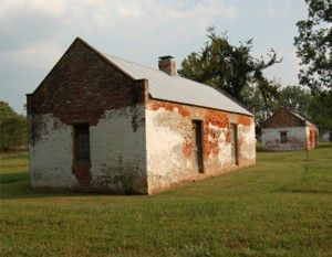 Brick cabins at Magnolia Plantation at CARI. Photograph by Sarah Jackson