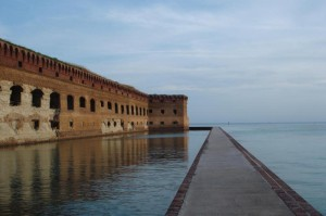 deteriorating walls of fort jefferson