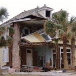 Chevis & Marcia Swetman House. Hurricane Katrina Damage. Photo: Mississippi Department of Archives and History (MDAH).