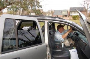 Dr. Kennedy tests vehicle mounted camera