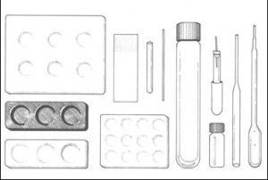 Figure 3. Supplies for Chemical Spot Testing