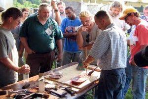 Participants view a demonstration at IPTW.
