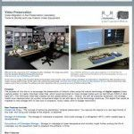 Video Preservation Website: Migration of Historic Video Tape to Digital Video Files (2007-13):