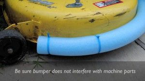 Be sure bumper does not interfere with machine parts.