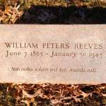 In Small Things Remembered: The William Peters Reeves Grave Memorial at Kenyon College: